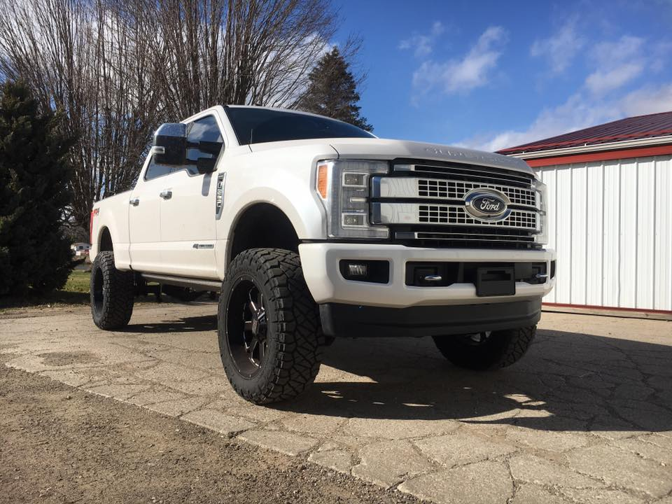 white ford truck